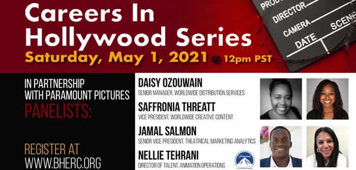 Career in Hollywood Webinar, May 1st