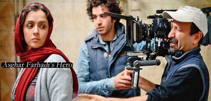 Asghar Farhadi at Cannes with HERO